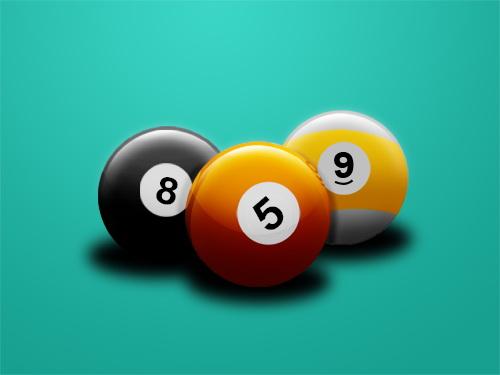 creacion de bolas de billar con photoshop