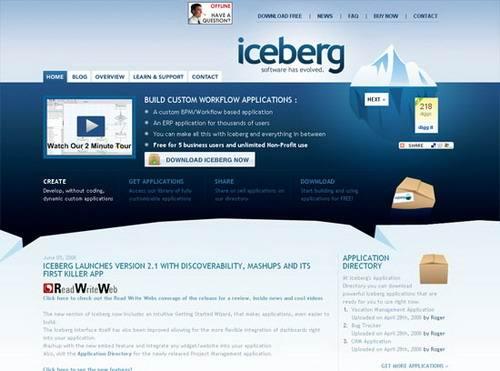 Hermosos diseños webs en azul