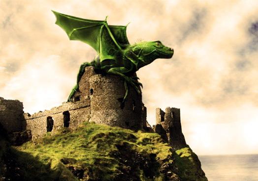 Dragon alado con Photoshop