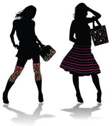 Siluetas de moda. Mundo fashion