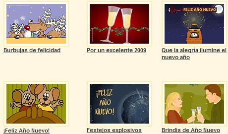 tarjetas para ano nuevo