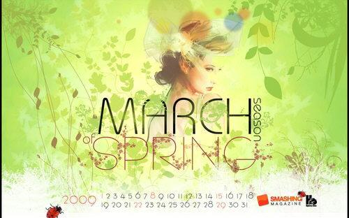 calendarios marzo 2009