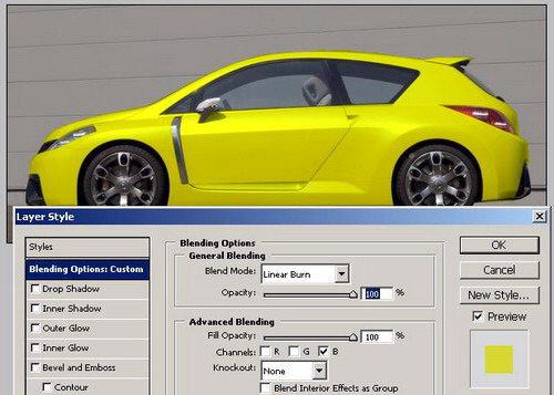 cambiar color de un carro con Photoshop