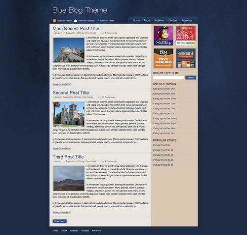 plantilla blog wordpress
