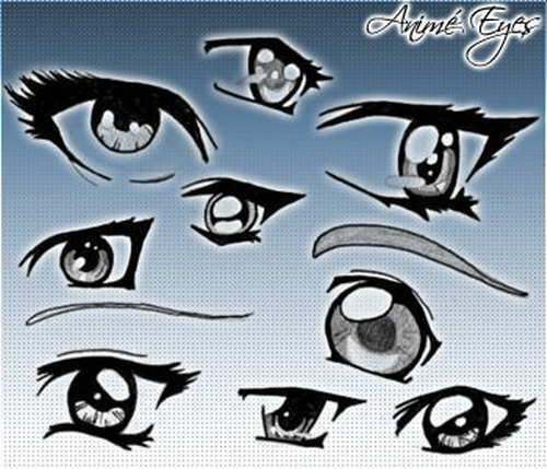 anime eyes brushes