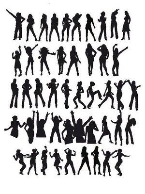 vector dancers chicas bailarinas vector