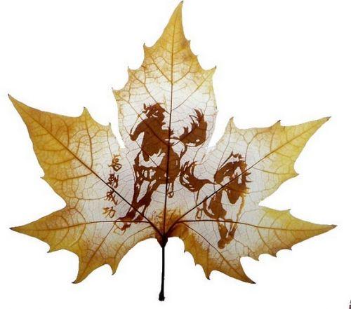 arte con hojas