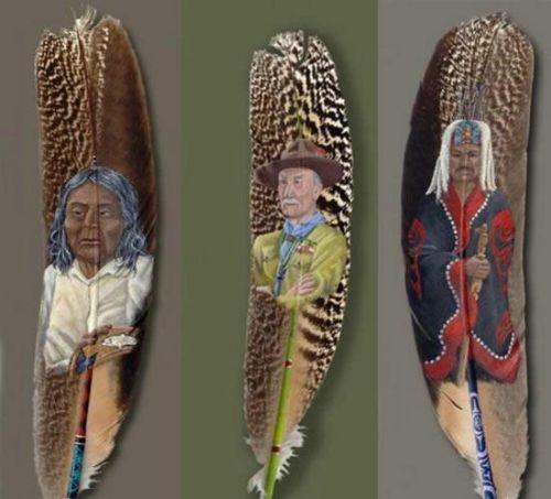arte sobre plumas