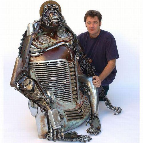esculturas partes autos
