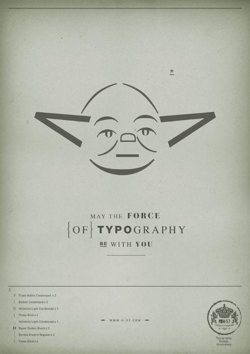 star war tipografia