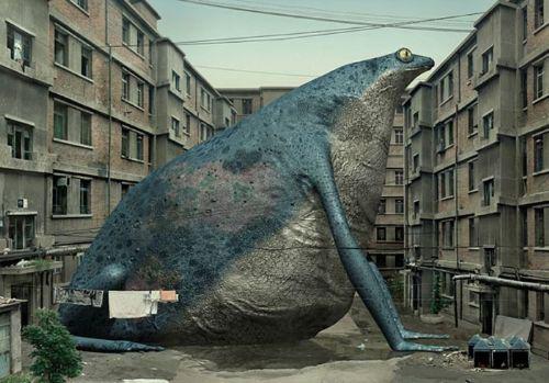 animales gigantes arte