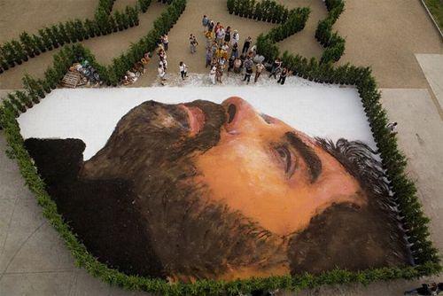 retrato gigante