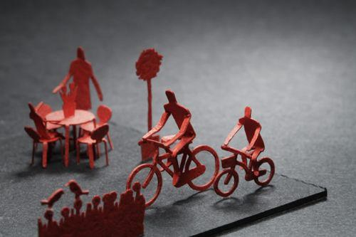 miniaturas papel cotidiano