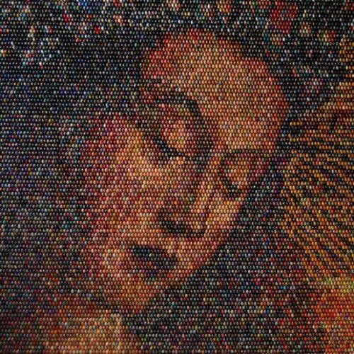mosaico huevos pintados
