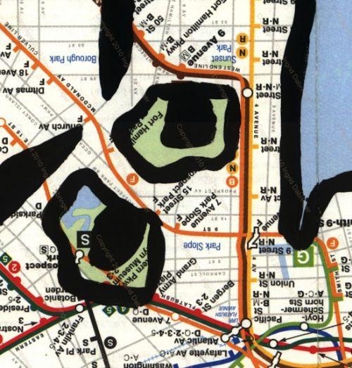 mapas arte reciclado