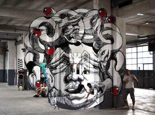 medusa pintura arte