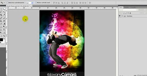 Tutorial Photoshop: Efectos Luces de Neón Rock
