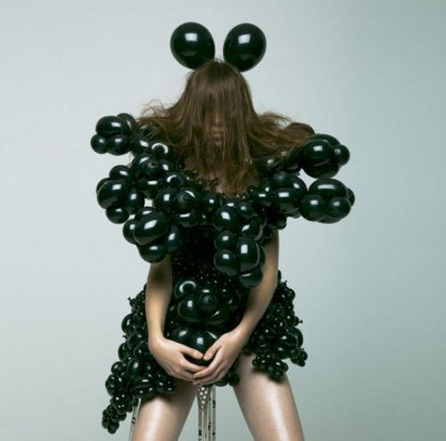 vestidos globo arte