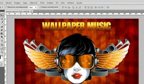 tutorial wallpaper musica