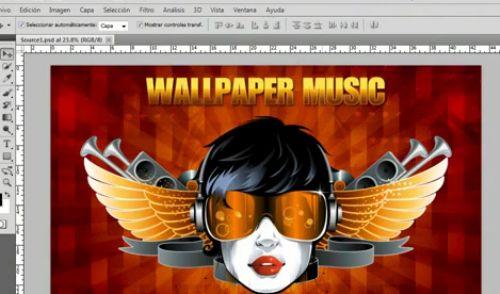 tutorial wallpaper musica
