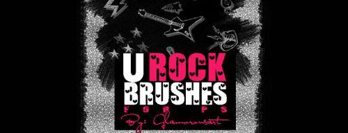 u rock music pinceles