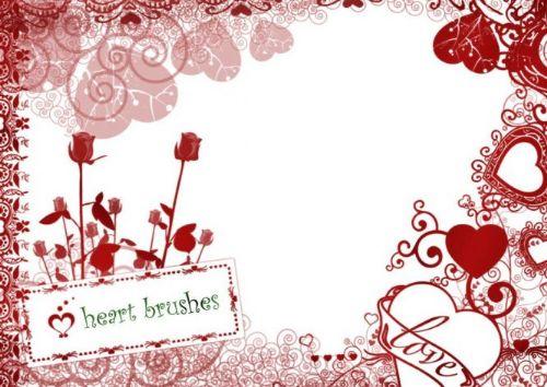 pinceles san valentin