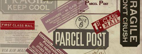 pinceles sellos postales