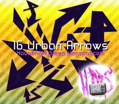 Pinceles flechas urbanas