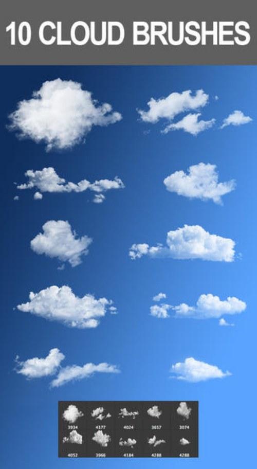 pinceles nubes