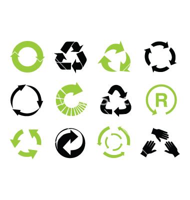 reciclaje iconos vector