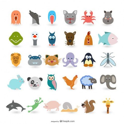 vectores animales animados