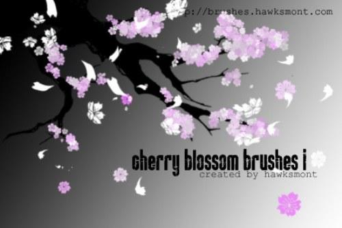 pinceles flor cerezo
