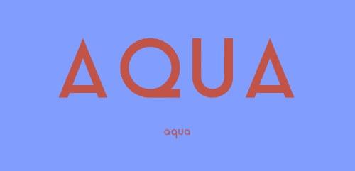 aqua tipografia gratis