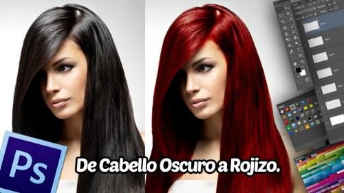 cambio color cabello photoshop