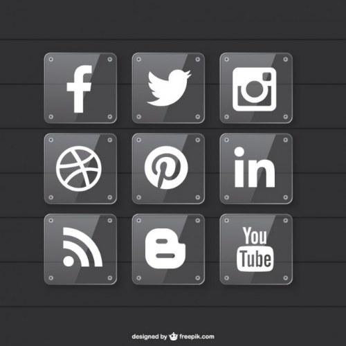 redes sociales iconos vector