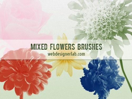 pinceles flores gratis