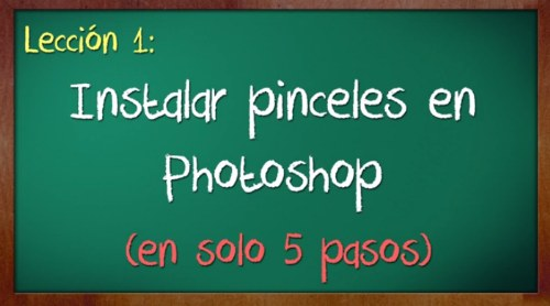 tutorial instalar pinceles photoshop