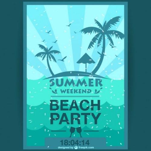 tarjeta invitacion fiesta de verano