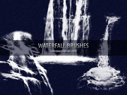 pinceles cascadas photoshop
