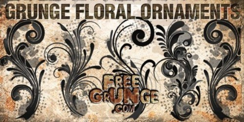 archivo psd ornamentos florales grunge