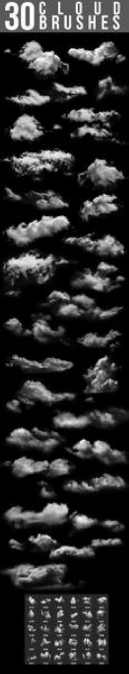 pinceles de nubes photoshop gratis