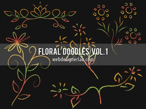 ornamentos florales pinceles hechos a mano photoshop