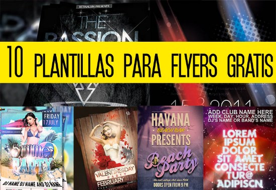 plantillas flyers archivo psd gratis