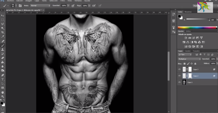 colocar tatuajes con photoshop gratis tutorial
