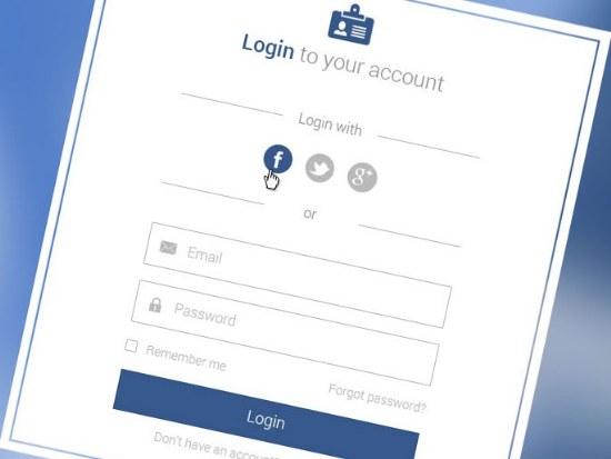 plantilla log in red social usuario gratis archivo psd