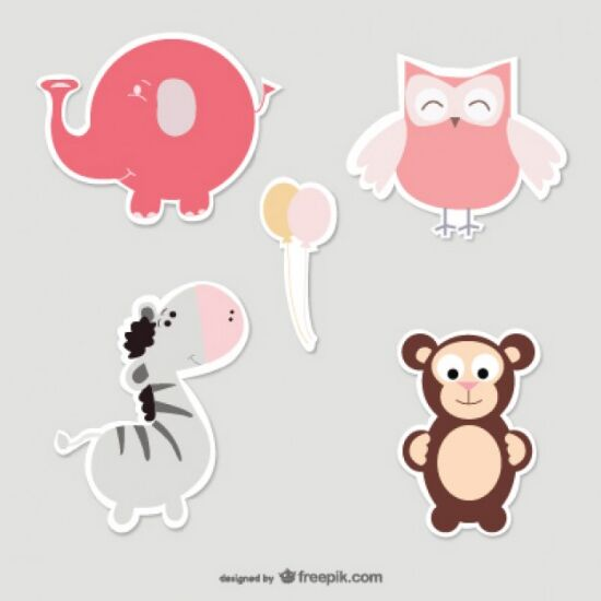 vectores animales infantiles