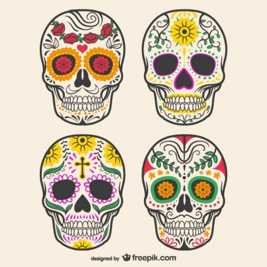 calaveras decoracion illustrator vector gratis