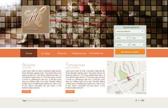 hotel web psd