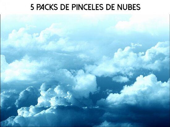 pinceles nubes photoshop