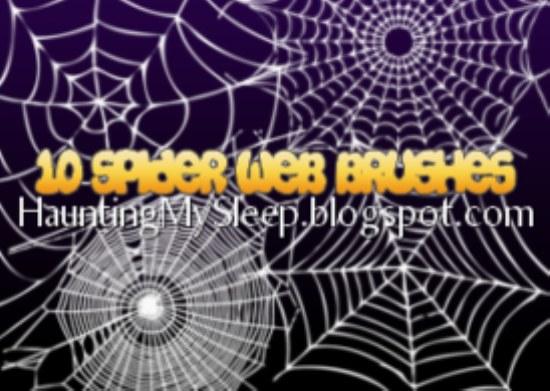 pinceles tela arañas photoshop gratis